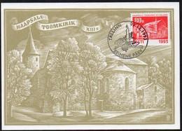 Estland 1993 MiNr. 216/ 217  Maximumkarten (2) ;  Weihnachten- Kirchen - Kirchen U. Kathedralen