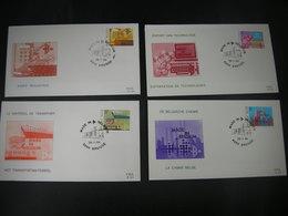 "BELG.1984 2114 2115 2116 & 2117  FDC's ( Brugge )  :"" Made In Belgium "" - FDC"