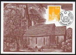 Estland 1995 MiNr. 270  Maximumkarte ;  Weihnachten- Kirche - Kirchen U. Kathedralen