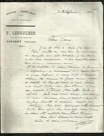 F . LEBOUCHER . EPICERIE . COMESTIBLES . 03 SEPTEMBRE 1928 . - Old Paper