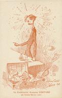 Caricature Chansonnier Alphonse Coutard Montmartre Par Leonce Selves 1902 Boukay Nadaud Clement Chebroux  Absinthe - Kabarett