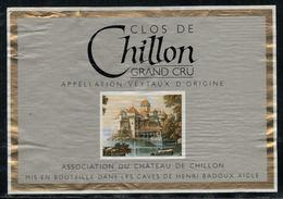 Etiquette De Vin // Clos De Chillon, Association Du Château De Chillon - Châteaux