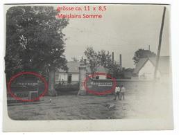 (80) Photo Militaire (carte)  Moislains - Manancourt -  WWI 1.WK (1914-1918)  Photo 3-3  Allemande Photo Militaire - Moislains