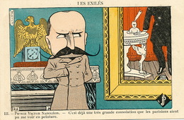 Caricature Prince Victor Napoleon Marié Clementine De Belgique Signée Ferco Mort à Bruxelles Aigle - Historische Persönlichkeiten