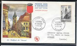 FDC 1956 - 1051 Beffroi De Douai - 1950-1959