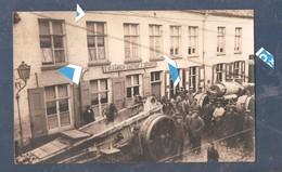 Gistel 1914 1918 Fotokaart Zware Duitse Artillerie Aan Herberg  't Vlaams Gasthof C.Depoorter 23.08.1917 ( Zie Rug) - Gistel