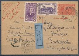 1938 - Par Avion Carte Postale From BEJRUT To BUDAPEST (HONGRIE) - Libanon
