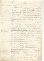 Courrier (3 Pages) à Propos Du Restaurant De Franchard - Rapport (1853) - Historical Documents