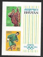 BHU002 - 1964 BHOUTAN - OLIMPIADI DI TOKIO -  NUOVO NON DENTELLATO - Bhutan