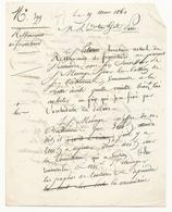 Courrier (4 Pages) à Propos Du Restaurant De Franchard - 19 Mars 1860 - Historical Documents