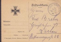 Germany Deutsches Reich WWI Feldpostkarte Truppenübungsplatz LAGER HAMMELBURG 14.12.1914 DACHAU (2 Scans) - Briefe U. Dokumente