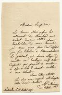 Courrier à En-tête Hotel De L'Aigle Noir Fontainebleau à Propos De L'abandon D'un Terrain Près Resto Franchard - Historical Documents
