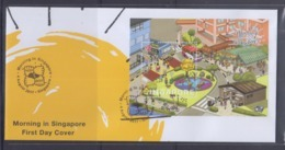 Singapore 2017 Morning In Singapore, Cycling S/S FDC - Cycling