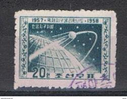 COREA  DEL  NORD - VARIETA': 1958  ANNIVERSARIO  -  PERCE' EN  LIGNES  -  20 Wm. VERDE-BLU  SCURO  US. -  YV/TELL. 135 A - Corea Del Nord