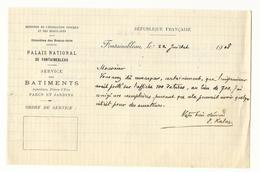 Ordre De Service Palais De Fontainebleau - Avis De Correction Sur Affiche Et Affiche (déchirée) Correspondante - Historical Documents