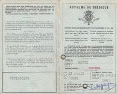 DOCUMENTO D'IDENTITA'  /  CARTE DE SEJOUR  - Documento  -  BELGIO _  Visti E Marche Da Bollo - Fiscal - Historical Documents