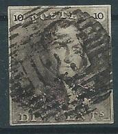 TTB:  Nr 1 Oblitéré P123 Verviers - 4 Belles Marges Régulières - Oblitération Centrale - 1849 Epaulettes