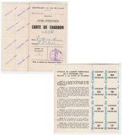 Carte Charbon  1940  Pas De Calais   Boulogne - Old Paper