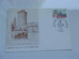FRANCE (1984) Congrès Régional Languedoc Roussillon MENDE - Cartes-Maximum