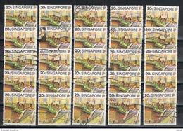 SINGAPORE:  1990  TURISTICA  -  20 C. POLICROMO  US. -  RIPETUTO  25  VOLTE  -  MICHEL  600 - Singapore (1959-...)