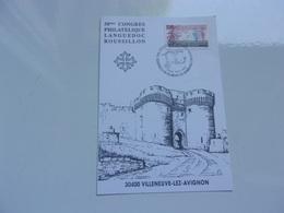 FRANCE (1992) Congrès Philatélique Languedoc Roussillon VILLENEUVE LEZ AVIGNON - Cartes-Maximum