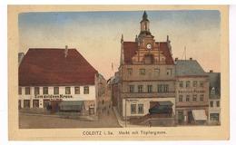 Colditz - Markt Mit Töpfergasse - Colditz