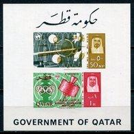 1966 - QATAR- ESPACE  VARIETY - 1  RARE S.S. M.N.H. LUXE !!- - Qatar
