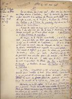 Courrier (2 Pages) Relatif à La Vente De Tilleuls Du Palais De Fontainebleau - 1918 - Historical Documents