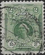 PERU 1909 Portraits - 2c - Green (Columbus) FU - Peru