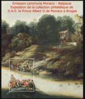 2012 Monaco - Albert II Painting Collection Brueghel Joint Issue With Belgium MS MNH** Mi B 105 River, Boat, Art, Brugge - Monaco