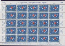 Switzerland 1958 Conférence Atomique Nations Unies 1v Sheetlet ** Mnh (F7858) - Zwitserland