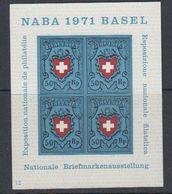 Switzerland 1971 Naba M/s ** Mnh (43156) - Blokken