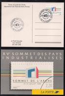 PUTEAUX - SOMMET DE L'ARCHE / 14 JUILLET 1989  # 2600 SUR CARTE MAXIMUM ILLUSTREE (ref 715) - Maximum Cards