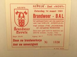 NEVELE - Brandweer - Pompiers - Zaal Novy - 1981 - Nevele