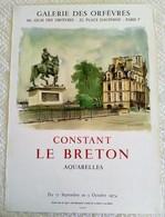 AFFICHE ANCIENNE ORIGINALE LITHOGRAPHIQUE Constant LE BRETON 1974 IMPRIMEUR MOURLOT PARIS - Manifesti