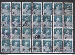 FILIPPINE: 1967 + 1970  SOPRASTAMPATO  -  4 S./ 6 S. BLU-GRIGIO  US. -  RIPETUTO  28  VOLTE  -  MICHEL  826x25 + 918x3 - Filippine