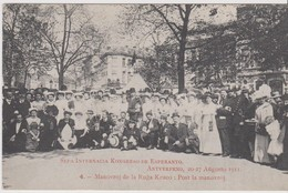 AKEO Card About 7th World Esperanto Conference In Antwerp With Text In Esperanto  Universala Kongreso En Antverpeno 1911 - Esperanto
