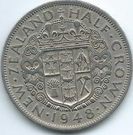 New Zealand - George VI - 1948 -½ Crown - KM19 - Nouvelle-Zélande