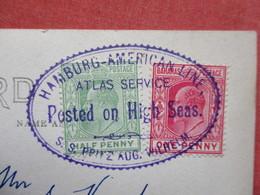 Cancel S.S. Prinz Aug Wilhelm   Posted On High Sea---------- RPPC Fortune Island B.W.I.        Ref 3422 - Ships