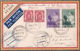 Lettre Bruxelles  Prague Liberec 1937 - Poste Aérienne