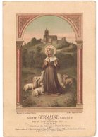 CHROMO SAINTE GERMAINE COUSIN à PIBRAC DIOCESE TOULOUSE  : IMAGE PIEUSE HOLY CARD SANTINI PRENTJE - Imágenes Religiosas