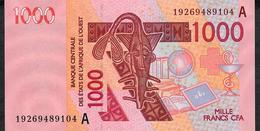 W.A.S. IVORY COST  P115As 1000 FRANCS (20)19 2019 UNC. - Estados De Africa Occidental
