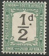 South Africa - 1922 Postage Due 1/2d (deformed 'd' Of Value) MNH **   SG D11v  Sc J11v - Postage Due