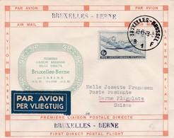 Lettre Bruxelles  Berne 1948 - Poste Aérienne