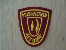 ECUSSON TISSUS MUSIKVEREIN ALTDORF - Ecussons Tissu