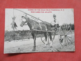 Scenes On The Road Near Pharsalia NY  Who Cares For An Auto     Ref 3422 - Other