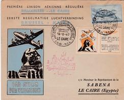 Lettre Bruxelles  Le Caire 1947 - Poste Aérienne