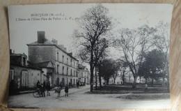 Montjean Sur Loire L'Entrée De L'usine Place Du Vallon (carte Animée:vélocipède,enfants, Automobile Ancienne) - France