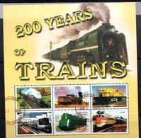 Serie Nº 3058/63  Used  Ghana - Trenes