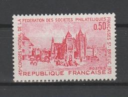 FRANCE / 1972 / Y&T N° 1718 ** : Saint Brieuc - Gomme D'origine Intacte - France